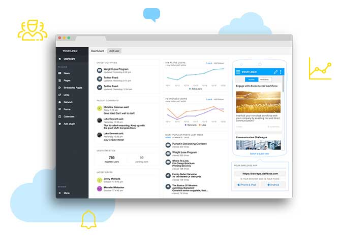 Employee Experience Platform Staffbase, Content Management System