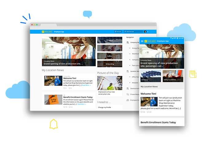 Employee Experience App Staffbase Startpage