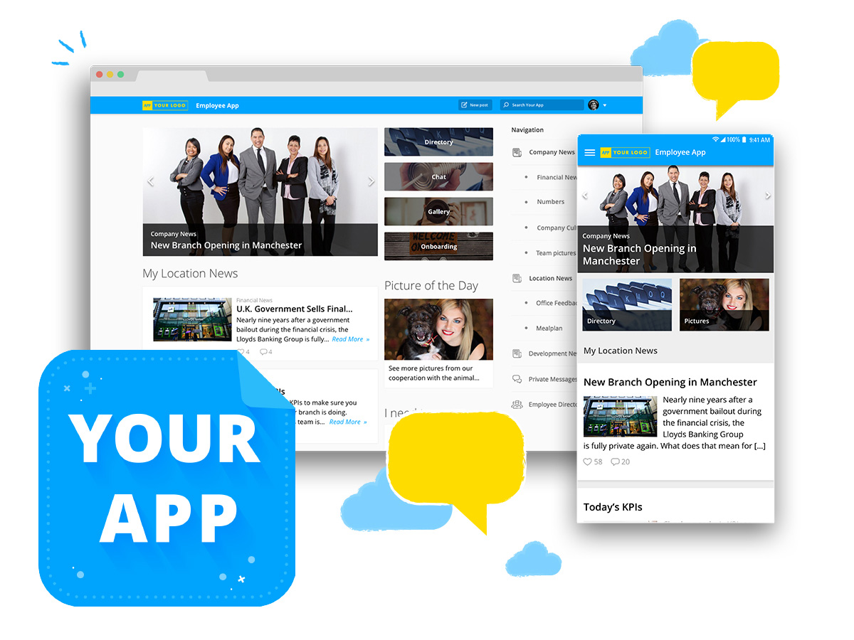 Screen Finance and Consulting Employee Experience Platform Staffbase