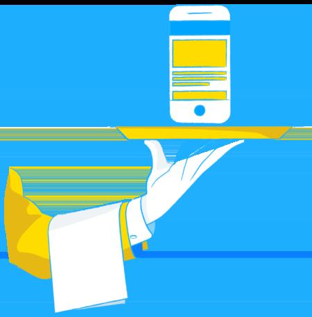Hospitality Illu Hand Staffbase Employee Experience Platform