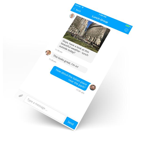 Staffbase Employee App Chat and Imageupload