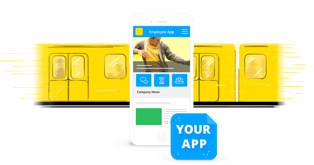 Use employee app by Staffbase to connect non-desk workers in public transportation