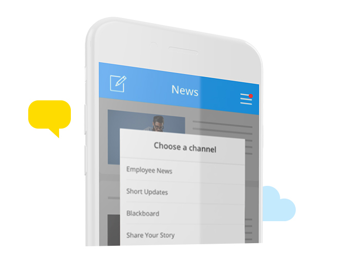 Employee Experience Mobile Intranet Platform App – Channels
