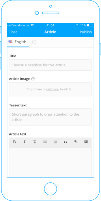 Create an article for the Trainee Blog in the app.