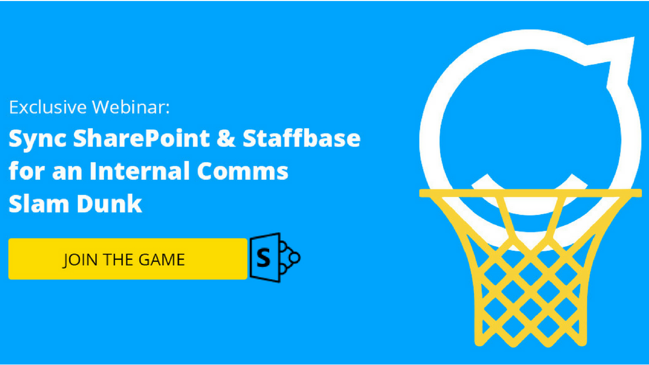 Sync SharePoint & Staffbase for an Internal Comms Slam Dunk