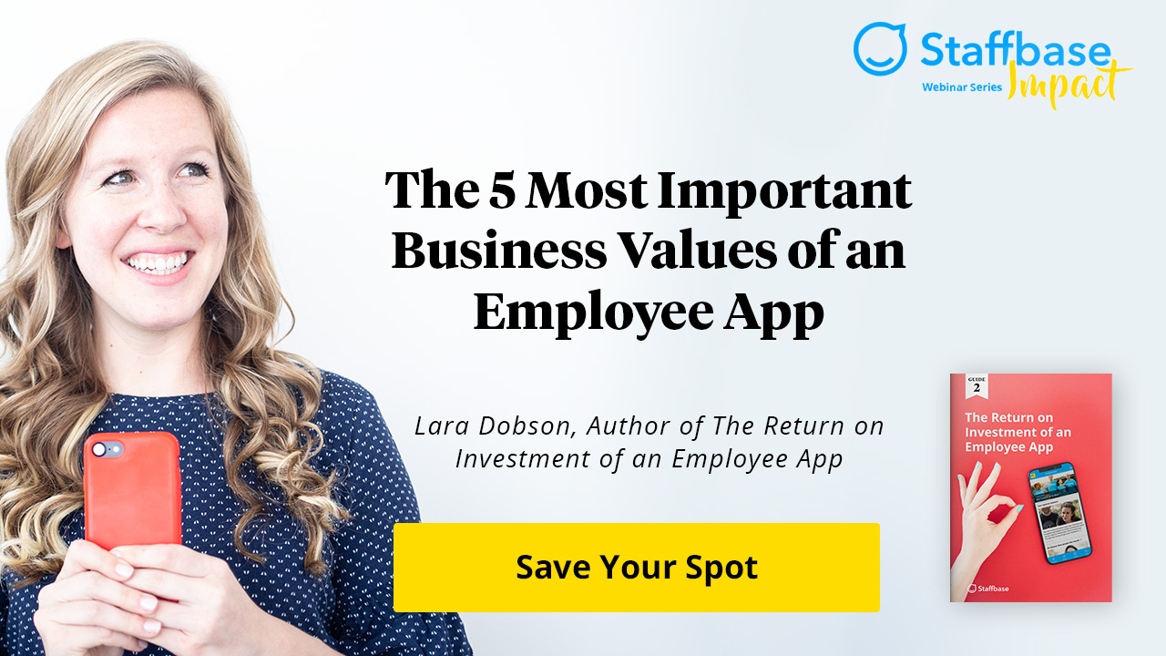 The 5 Most Important Business Values of an Employee App