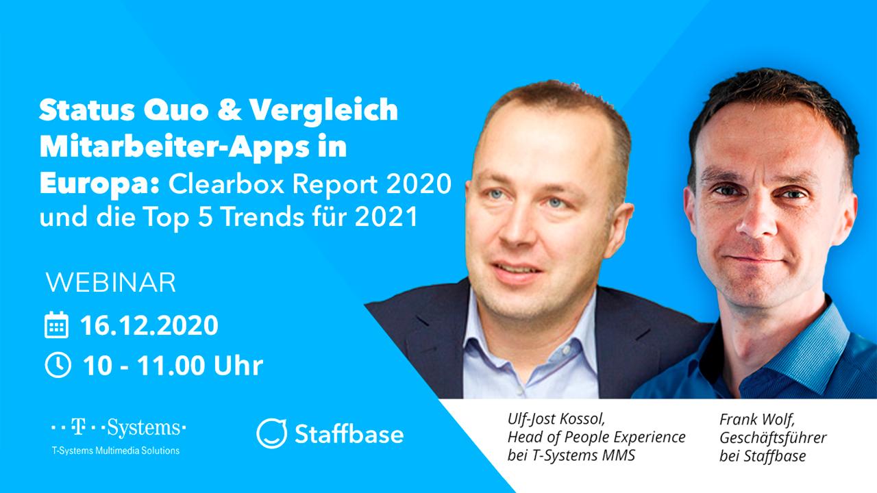 Status Quo & Vergleich Mitarbeiter-Apps in Europa: Clearbox Report 2020 und die Top 5 Trends für 2021