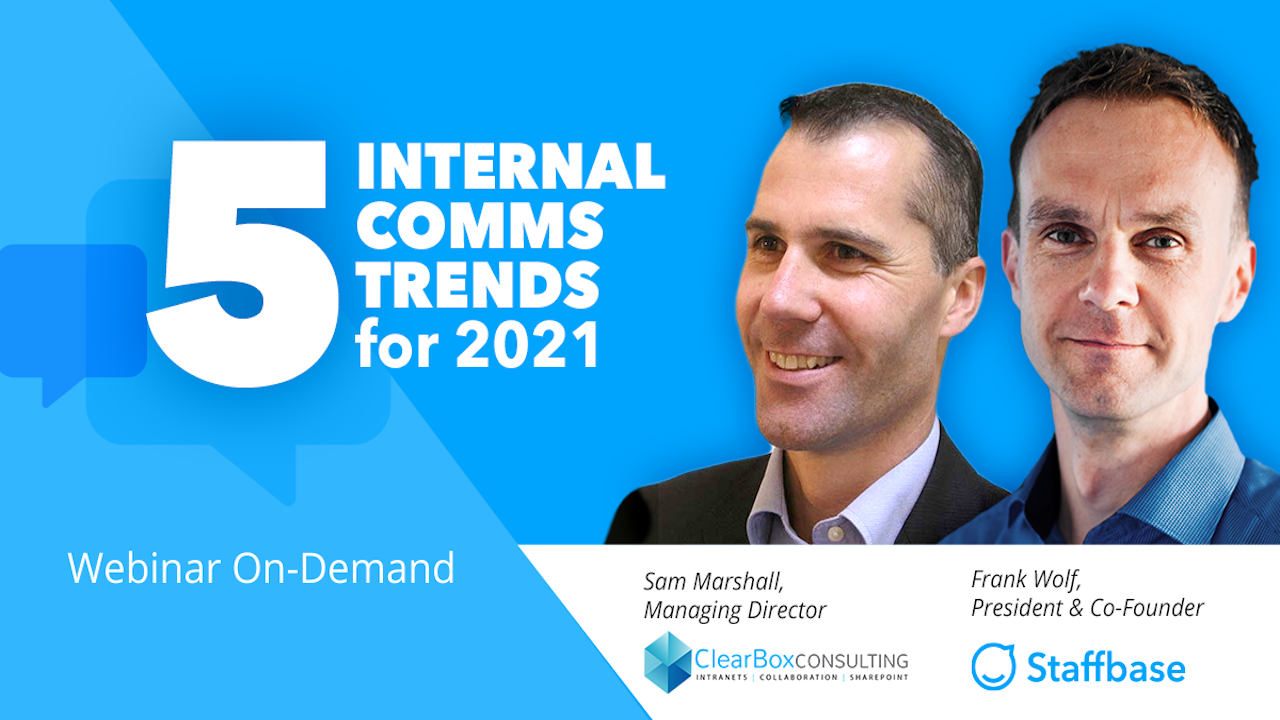 5 Internal Communications Trends for 2021