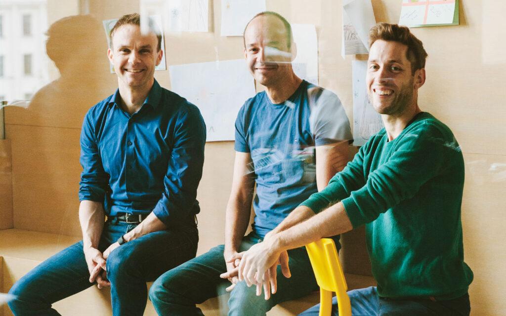 Staffbase founders Frank Wolf, Dr. Lutz Gerlach, and Dr. Martin Böhringer