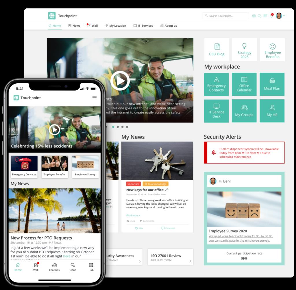 Staffbase Employee App and Intranet