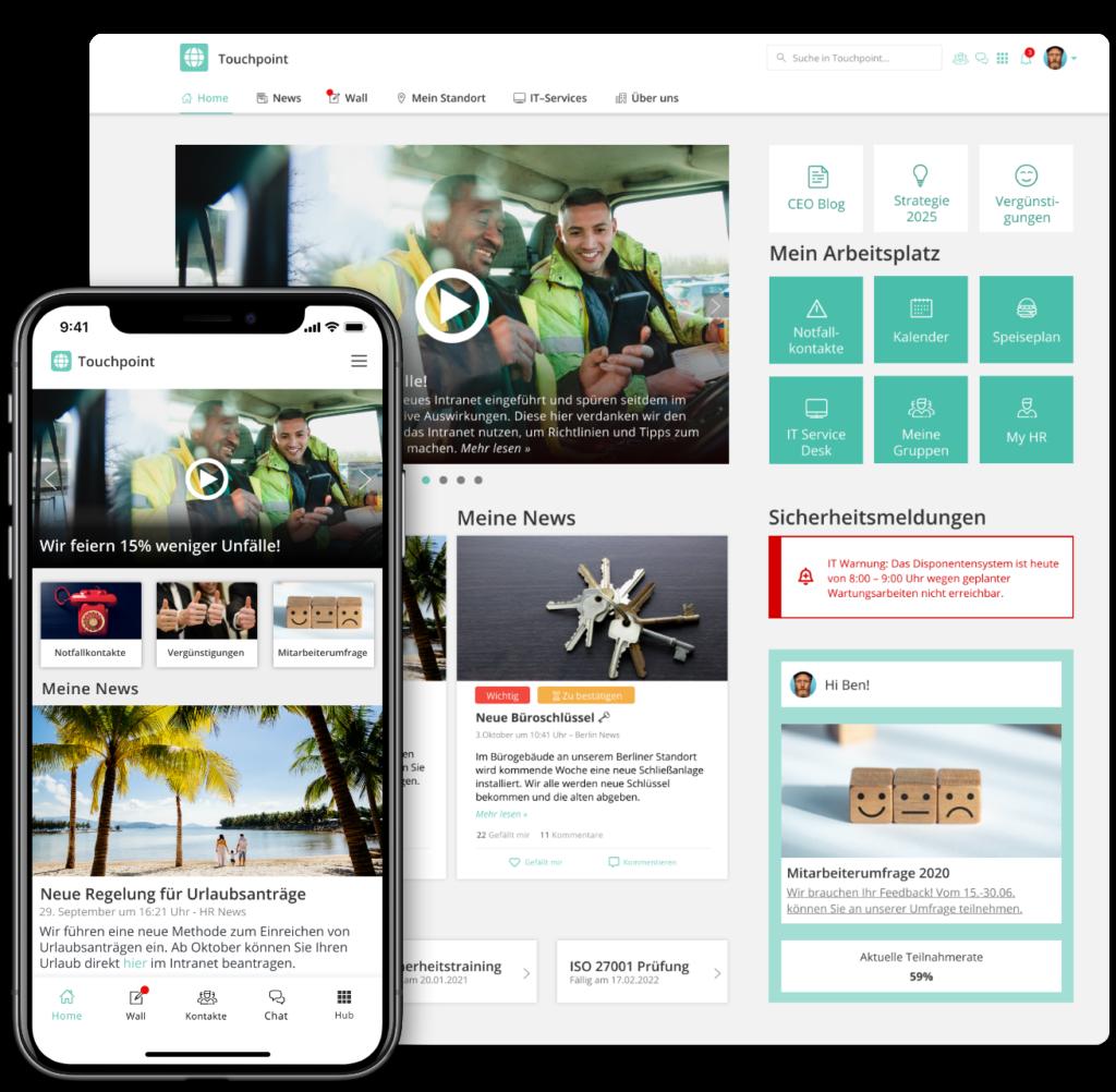 Staffbase Mitarbeiter-App und Intranet