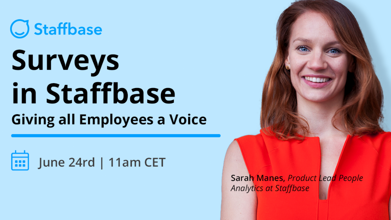 Surveys in Staffbase: Giving All Employees a Voice (6-24-21)