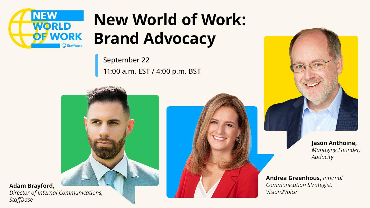 New World of Work: Brand Advocacy